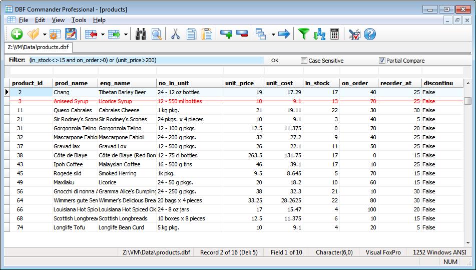 DBF Tools - Filter DBF Records, Sort DBF File, Count DBF Statistics