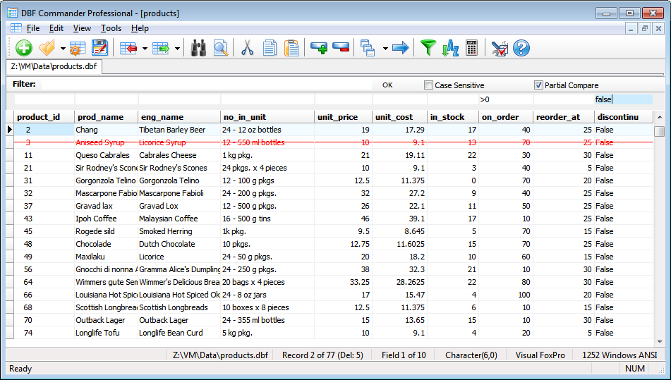 DBF Tools - Filter DBF Records, Sort DBF File, Count DBF Statistics